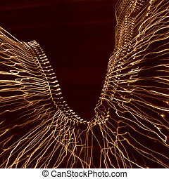Scrapbook Light Painting - Abstract Light Painting - Sepia