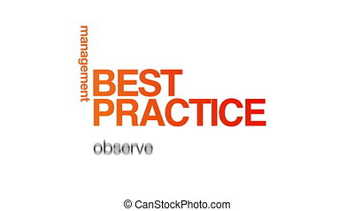 Best Practice - Animated Best Practice word illustration...
