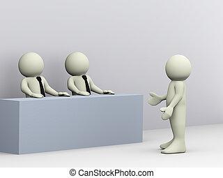 3d man job interview