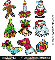 Christmas Stuff with Colorful Details - Set 1