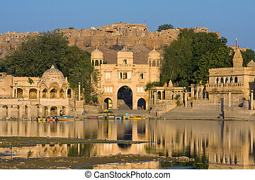 Gadi Sagar Gate, Jaisalmer, India