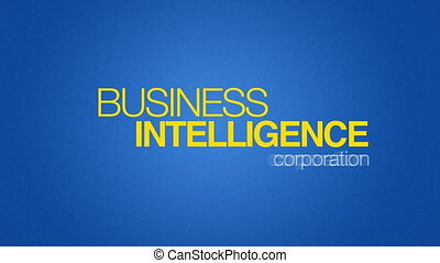 Business Intelligence - Animated Business Intelligence word...