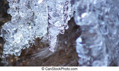 water and ice in winter