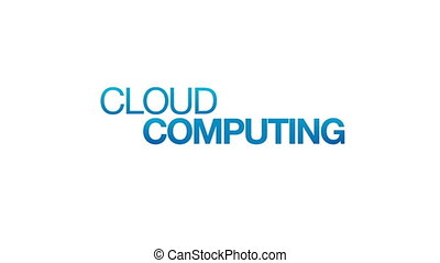 Cloud Computing - Animated Cloud Computing illustration....