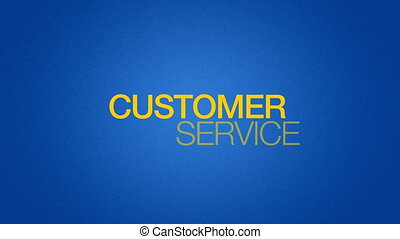 Customer Service - Animated Customer Service Word...