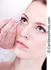 at the cosmetic studio eyeliner on eyes make up - at the...