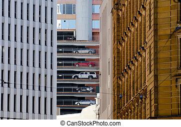 Carpark - Building parking lot.Photo by Rafael...
