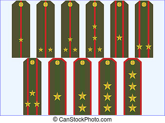 Officer's insignia. - Chase with the officer rank of...