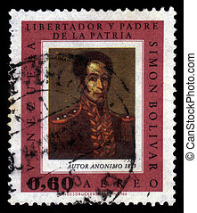 portrait of Simon Bolivar, by an unknown artist - VENEZUELA...