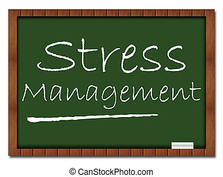 Stress Management - Classroom Board - Image with Stress...