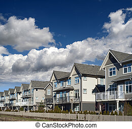Residential area - North America's typical home complex
