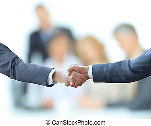 handshake isolated on business bac