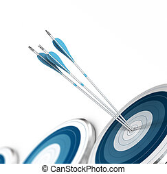 Strategic Marketing, Consulting Concept - Three arrow hits...