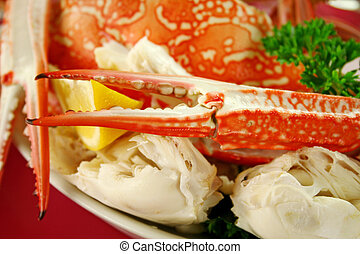 Fresh Cracked Sand Crab - Fresh cracked sand crab with lemon...