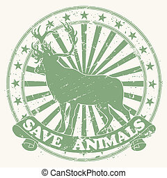Stamp save animals