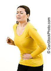 Bellyache - Young woman with stomach / menstrual issues