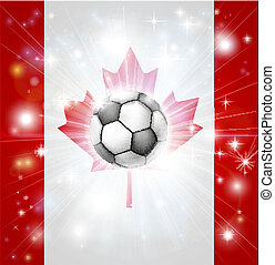 Canada soccer flag - Flag of Canada soccer background with...