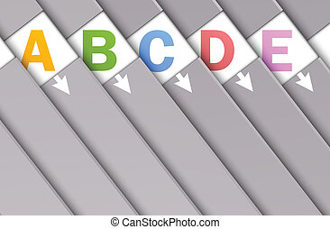 Set of numbered banners. Abstract illustration