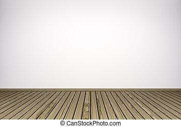 bright wooden room