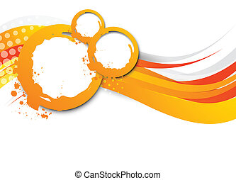 Abstract wavy orange background. Bright illustration