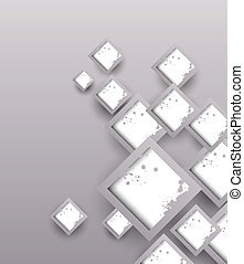 Background with grunge squares. Abstract illustration