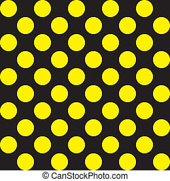 Yellow dots on black seamless baclground
