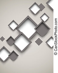Background with squares. Abstract illustration