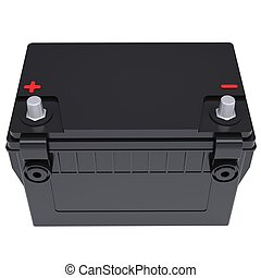 Car battery. Isolated render on a white background