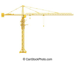 Tower crane. Isolated render on a white background