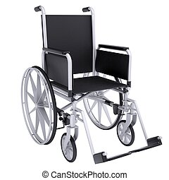 Wheelchair Isolated render on a white background