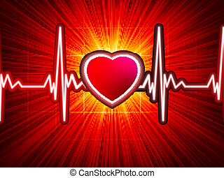 Heart beating monitor with burst EPS 10 vector file included...