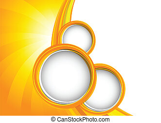 Background with orange circles. Abstract illustration