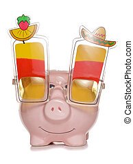 saving for a stag do holiday piggy bank cut out