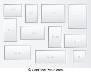 Aspect Ratio - Blank Frames Representing The Most Common...
