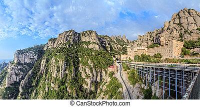 Santa Maria de Montserrat monastery, Catalonia, Spain...