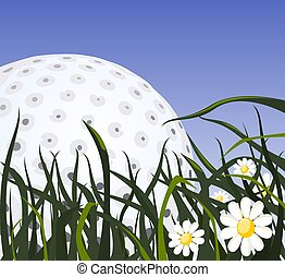 Abstract sport background, Golf Ball