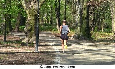 Male runner in the park