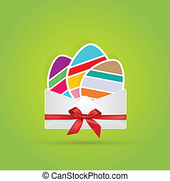 colored eggs in envelope gift