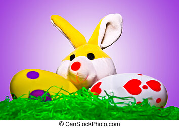 Stuffed Bunny with Two Eggs