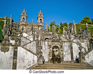 Santuario Bom Jesus do Monte, Braga, Portugal - The...