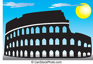 Rome Coliseum - Illustration of Rome Coliseum in Italy.