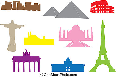 World monuments - Set of main world monuments