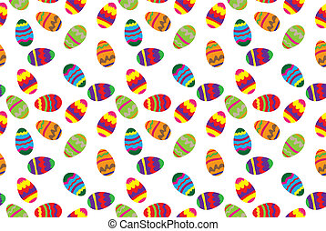 Easter background - Easter seamless pattern with color egg