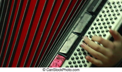 Playing accordion - Playing in accordion