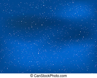 Starry night sky - Starry sky at night