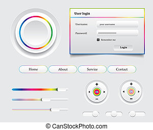 Colored UI Controls Web Elements