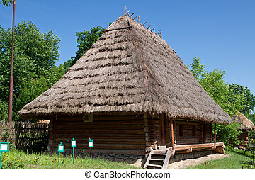 Old wooden house a museum Uzhhorod - Old wooden house, a...