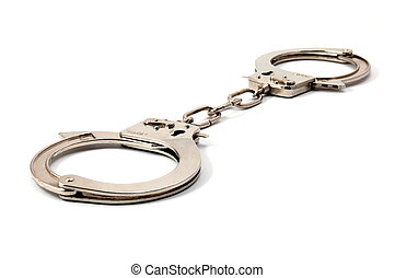handcuffs - police handcuffs isolated on a white background
