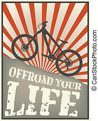 offload your life - Vintage vector illustration of a...