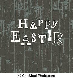 Happy Easter Card Template. Vector Illustration, EPS10.